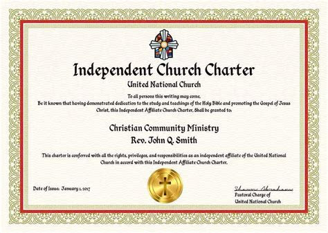 Complete Ministry   Church Charter Package ? United