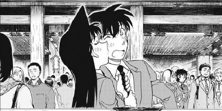 Detective Conan Ran And Shinichi Kiss