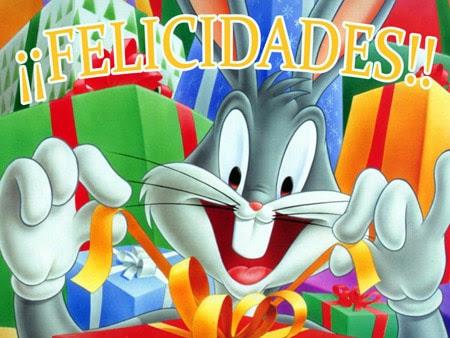 Felicitaciones de cumpleaños de Bugs Bunny