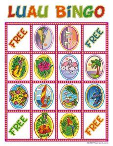 Luau Bingo Printable Cards