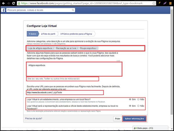 Como Criar Uma Pagina No Facebook Para Integrar Minha Loja