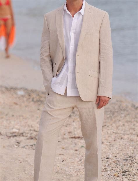 Linen Suit no tie   Wedding Groom & Groomsmen   Mens beach