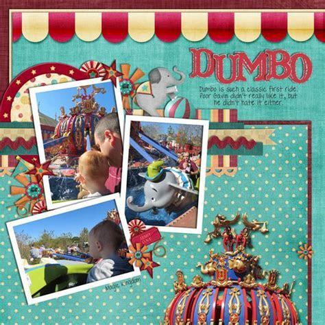 dumbo Disney Scrapbook Layout   Disney Scrapbook Pages IV