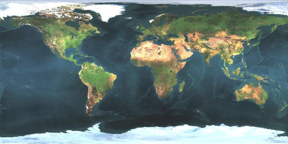 Free World Map Image | World Map Gray