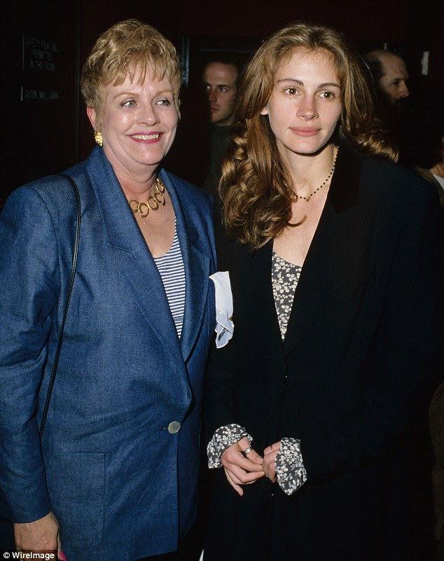 Close: Julia and her mother were incredibly close. The two are pictured at the premiere of 'Benny and Joon' in Los Angeles in 1993