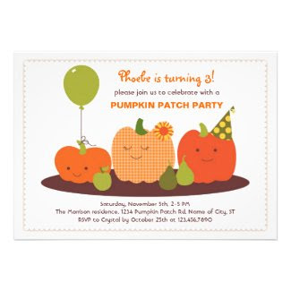 Pumpkin Patch Birthday Invitation