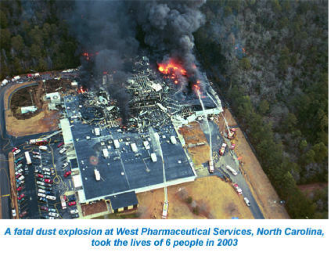 Dust Explosion at West Pharmaceutical Services