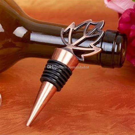 Bronze Fall In Love Maple Wine Bottle Stopper Wedding