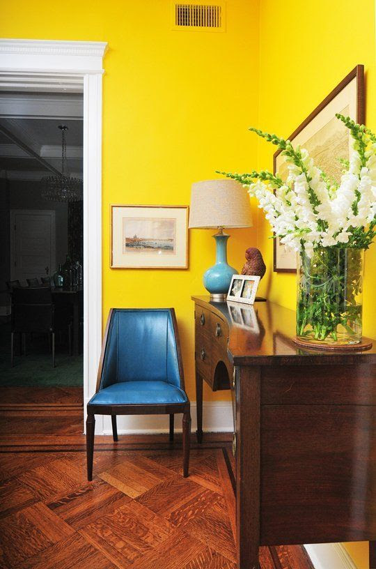 Bring Zest To Interior Painting With Yellow Blue Door Painting
