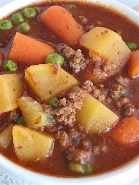 slow cooker hearty ground beef stew   family