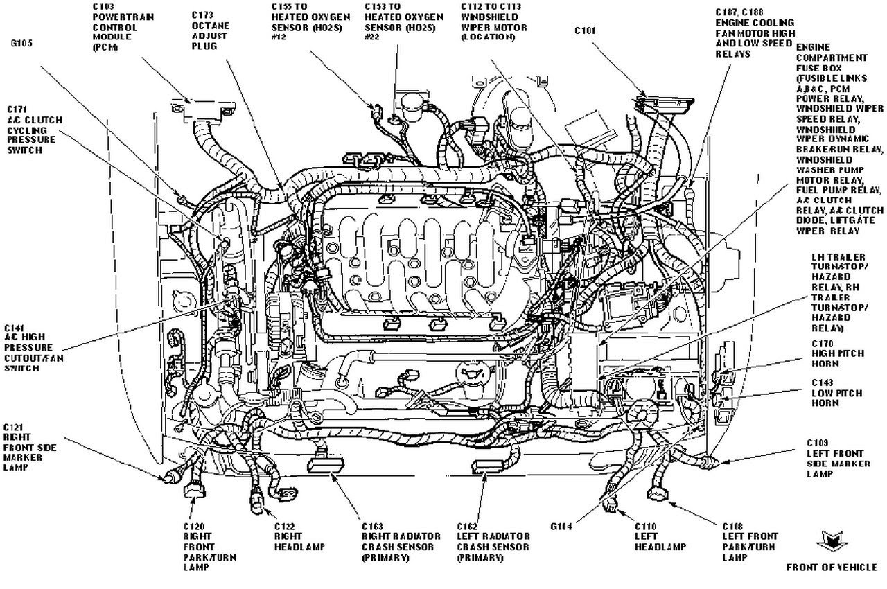Ford Focus 2000 Diagram Of Engine