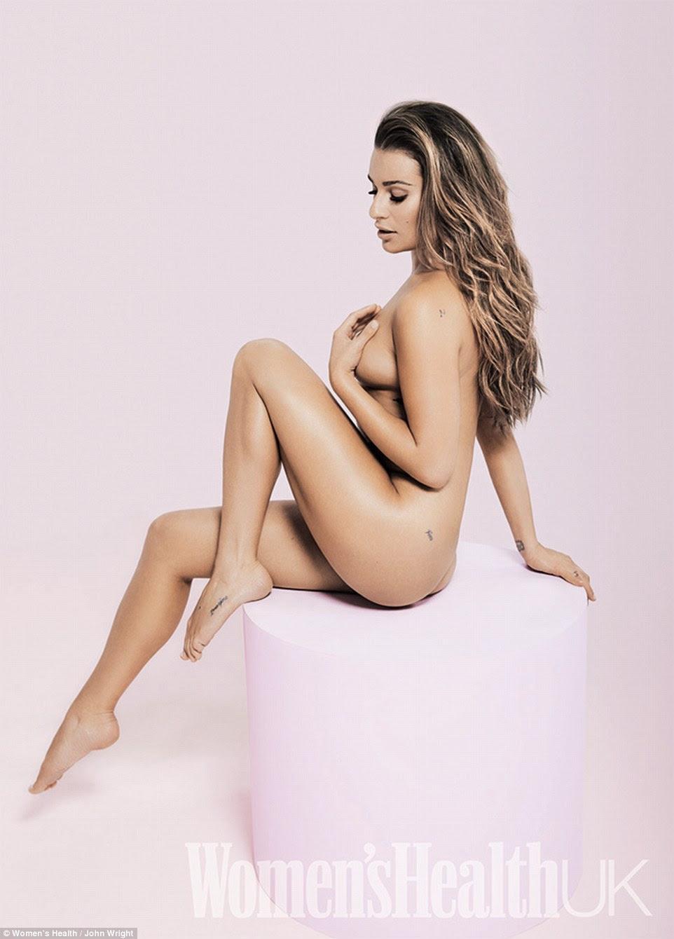 Tirando: A edição de setembro da Saúde da Mulher vê uma variedade de estrelas posar nua para a revista incluindo Glee atriz Lea Michelle