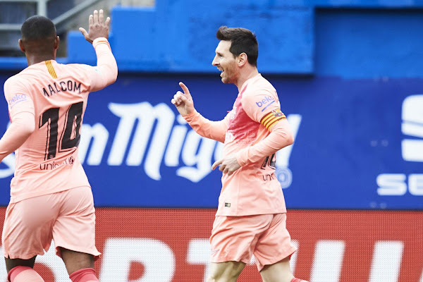 a5669612ca74 Eibar 2 Barcelona 2: Two-goal Messi moves four clear of Mbappe in Golden  Shoe race