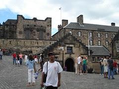 Di dalam kawasan Edinburgh Castle, Edinburgh, Scotland, United Kingdom