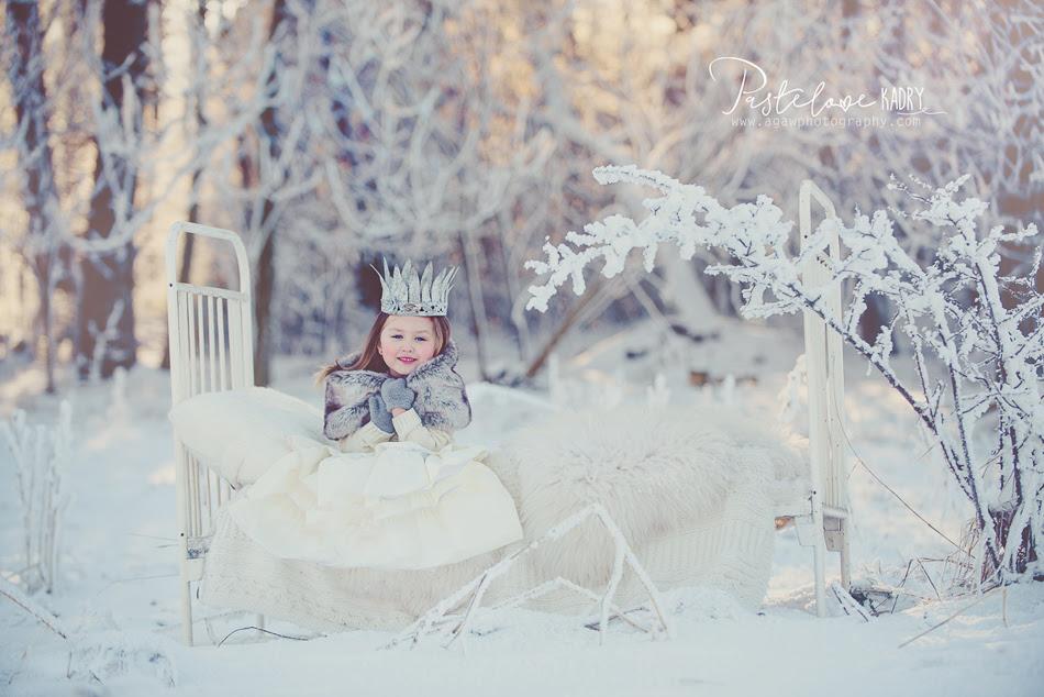 zimowy plener dla dziewczynki
