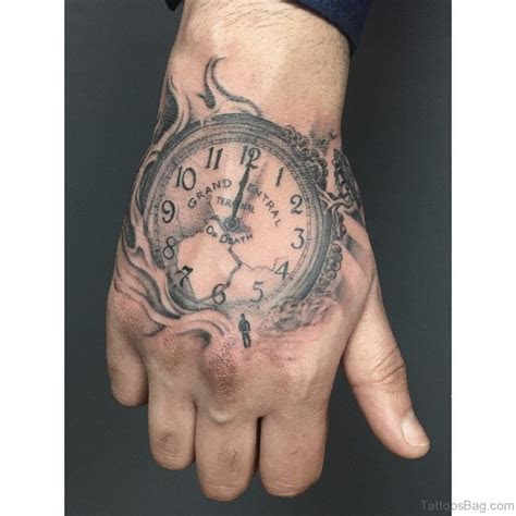 excellent clock tattoos hand