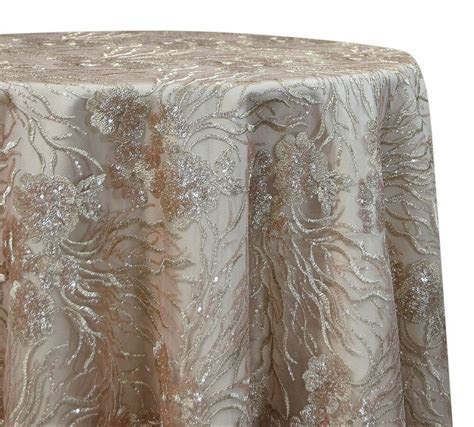 Marigold tablecloth in Champagne   Elegant wedding lace