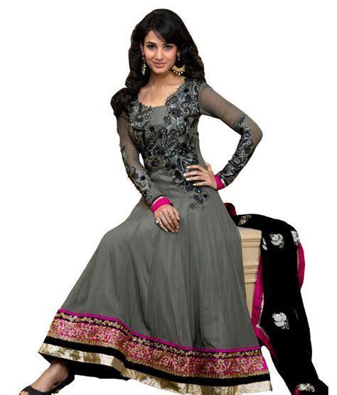 Mix n Match Sonal Chauhan Grey Long wedding Anarkali Dress