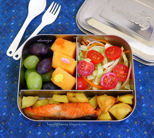 Salmon LunchBots Brainfood Bento by sherimiya ♥