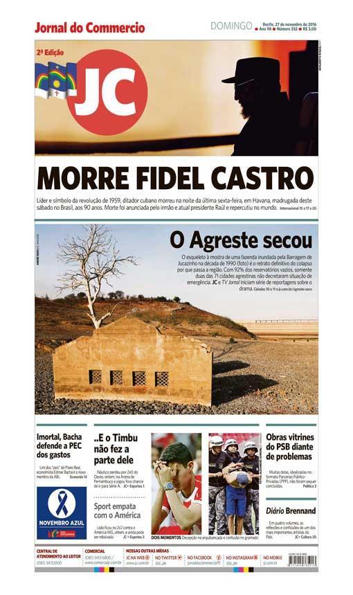 Capa do Jornal - 27/11/2016