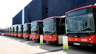 Detall de la flota d'autobusos híbrids de TMB (ACN)