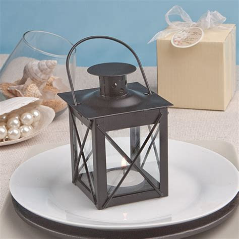 Black Mini Lantern Candle Wedding Favors