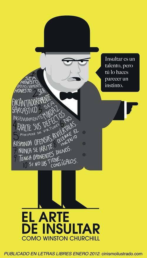 Aprende a insultar como Winston Churchill - Infografía
