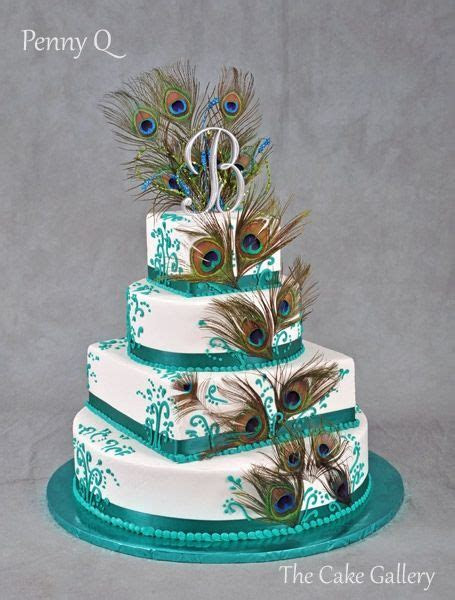 Best 25  Peacock wedding cake ideas on Pinterest
