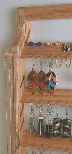 Woodwitch Finely Crafted Earring Holder