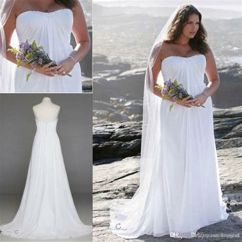size white ivory beach chiffon bridal gown wedding