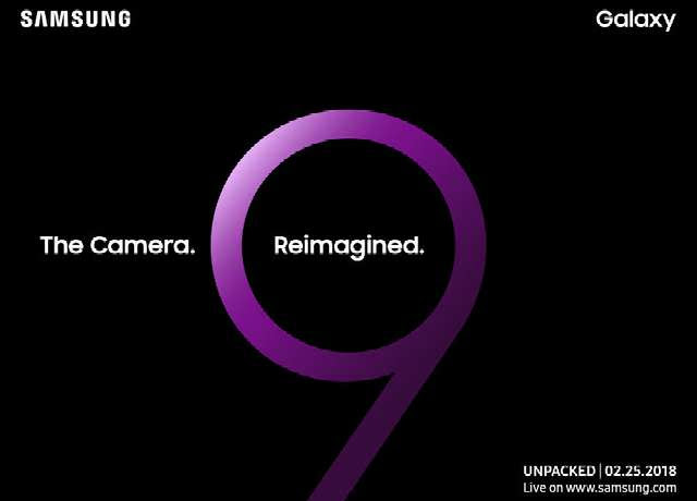 Official Invites Confirms February 25 for Samsung Galaxy S9's Launch