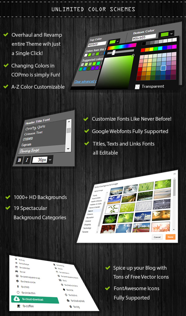 Blogger template with Unlimited Color Schemes