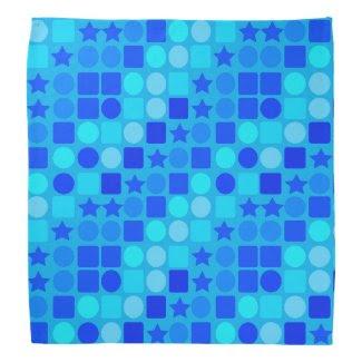 Blue Stars, Circles 'n' Squares Bandana
