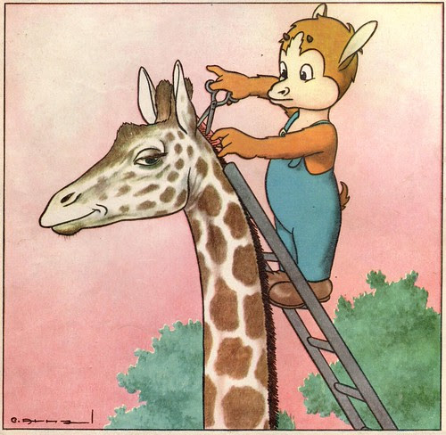 peigner la girafe
