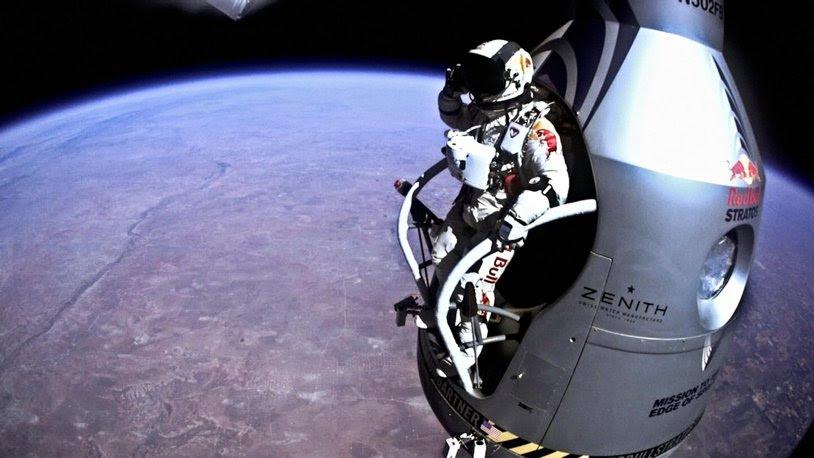 Perspectiva unui nebun. Un video nou a apărut la peste un an de la saltul istoric: Ce a văzut Felix Baumgartner când a sărit în gol de la 39.000 de metri