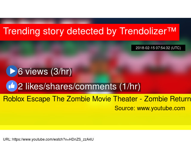 Roblox Escape The Zombie Movie Theater Zombie Return - escape the movie theater roblox