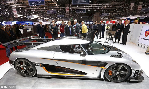 Speedy: Swedish manufacturers unveiled the One:1 at the Geneva Motor Show and it is considered to be the fastest car in the world