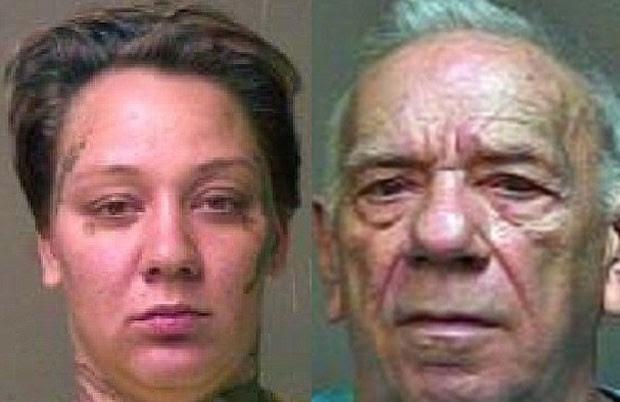 Amanda Zolicoffer e Douglas Blansett foram filmados por drone fazendo sexo (Foto: Oklahoma County Sheriff's Office)
