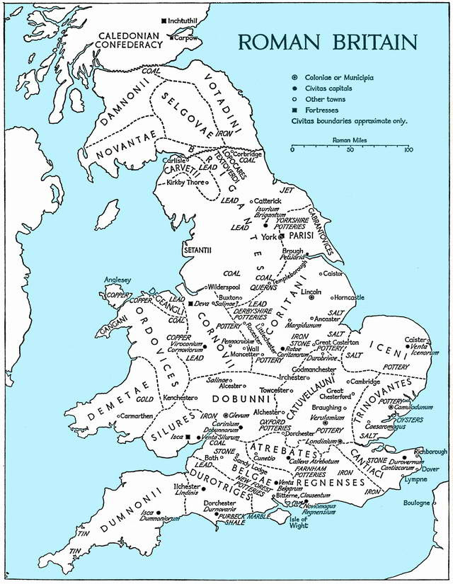 Fig. 2. Map of Roman Britain (Sheppard Frere, Oxford University)