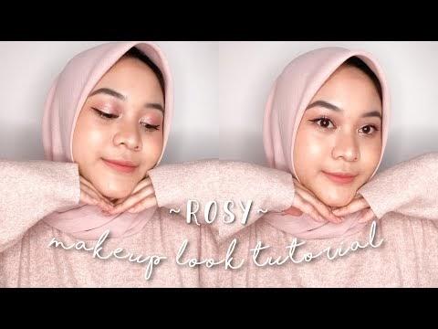 Rosy Pink makeup look tutorial 💕 | Bahasa Indonesia