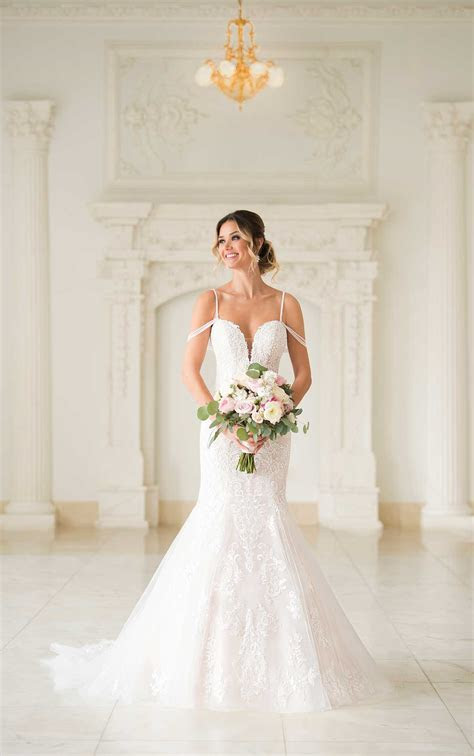 Mermaid Wedding Dress with Beaded Straps   Stella York