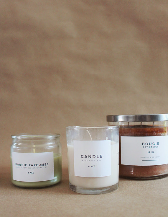 diy drugstore candle makeover (with printable labels ...
