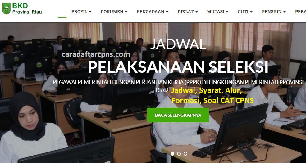 Jadwal Pendaftaran CPNS Pemprov Riau 2021 Lulusan SMA SMK ...