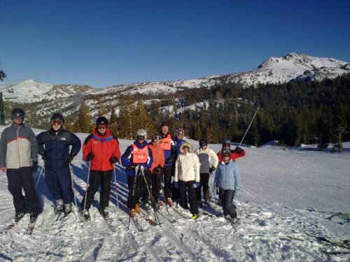 Mike, family, and friends at Kirkwood Ski resort