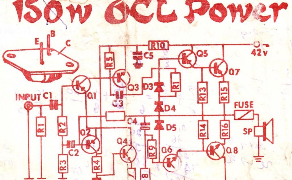 Circuits Apmilifier  2N3055 MJ2955 Audio Amplifier    circuit