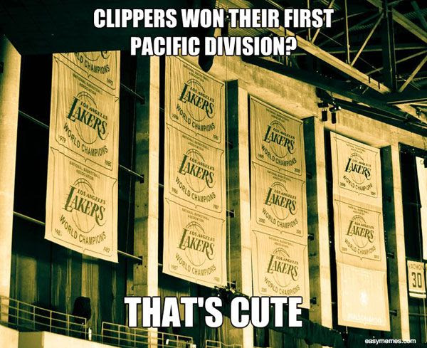 Do you think the L.A. Clippers will hang a banner celebrating their 2012-'13 Pacific Division title up on the rafters at STAPLES Center? Hmm.