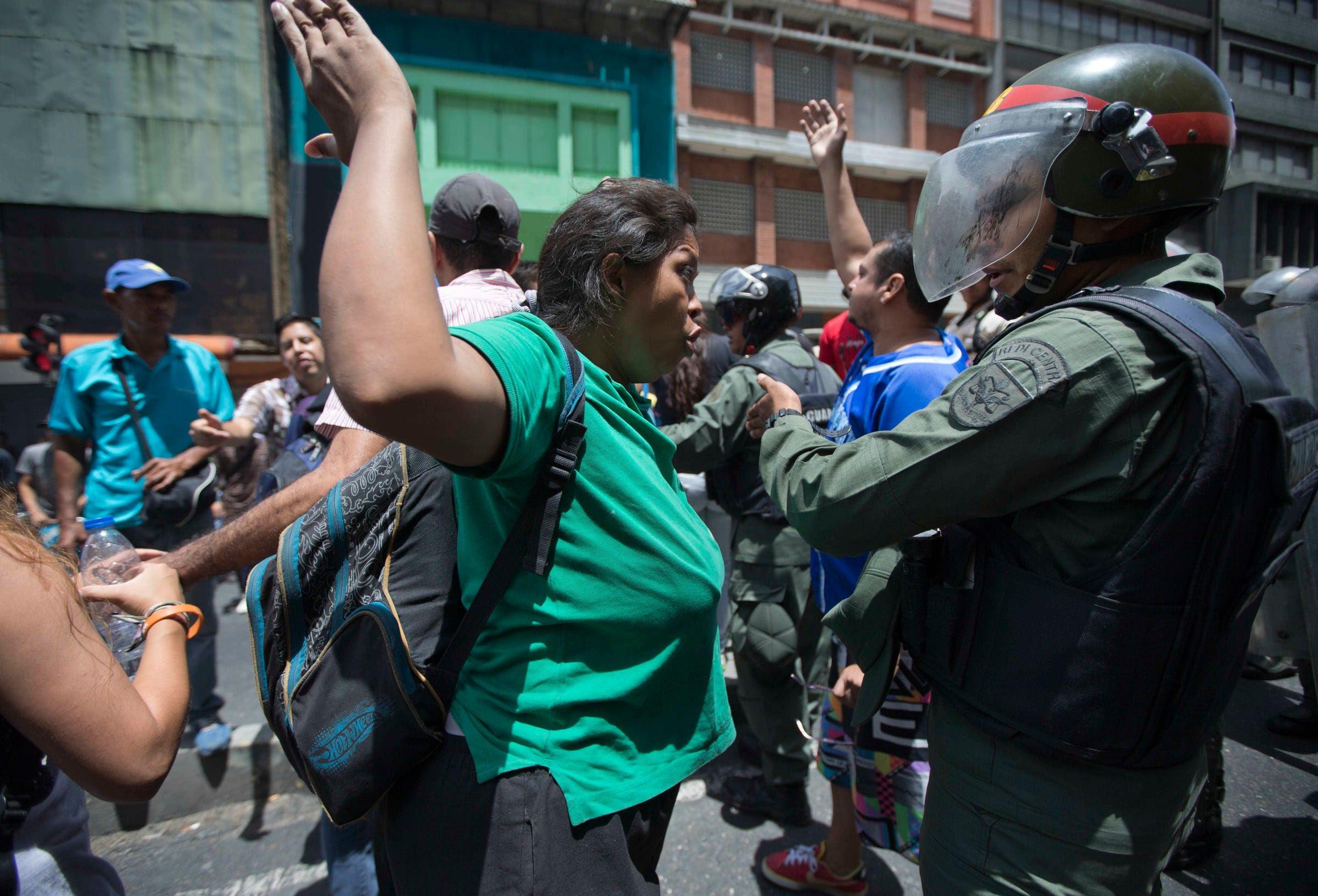 Venezuela protests Caracas police