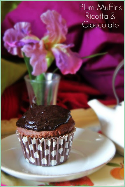 muffins ricotta e cioccolato