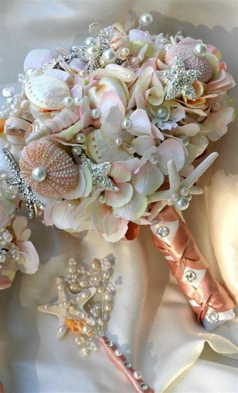 Wedding Nail Designs   Pink Sea Shell Wedding Bouquet