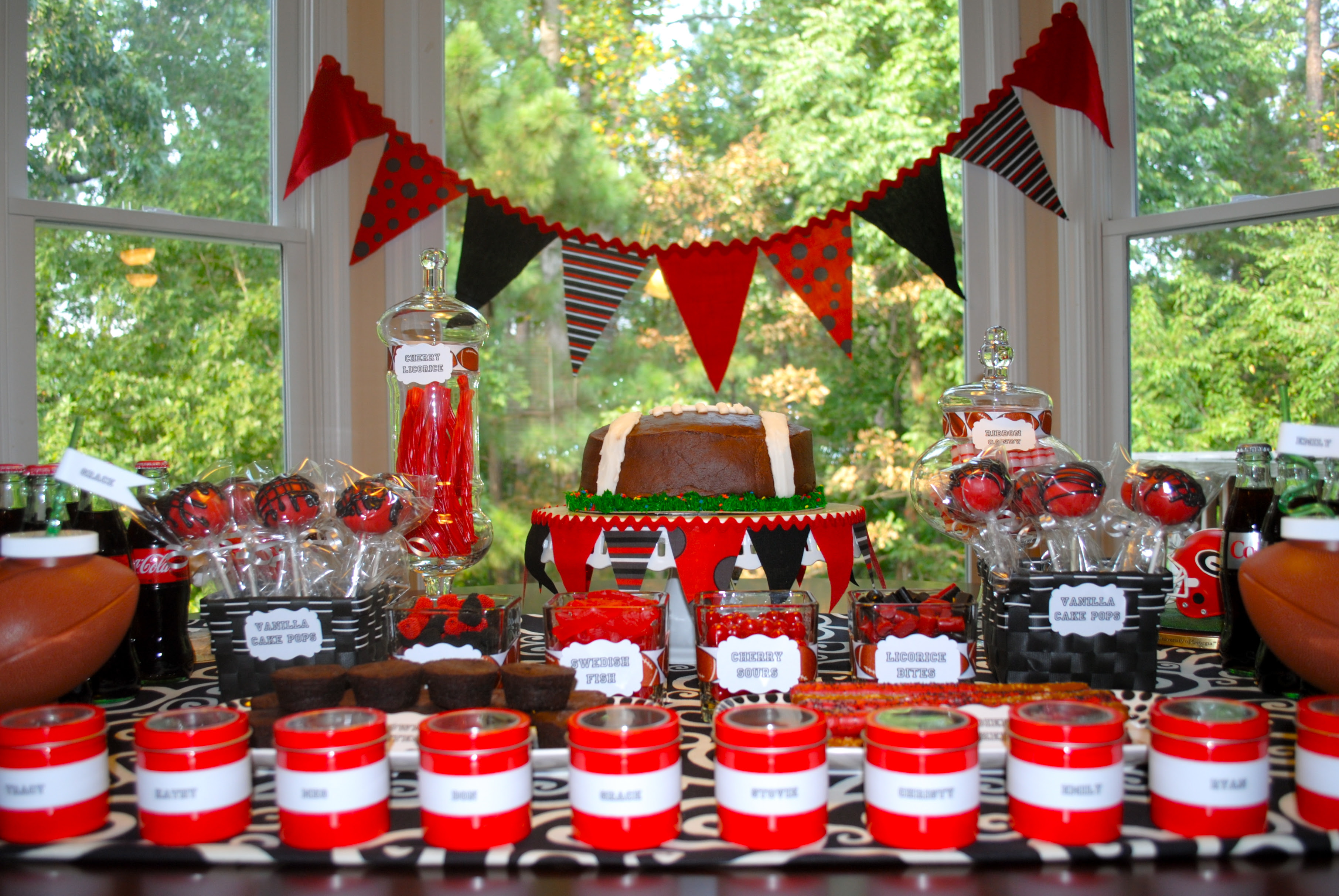 My Parties Uga Opening Game Dessert Table The Party Teacher